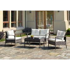 4 Piece Lounge Seating Group with Cushions