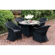 Masden 5 Piece Dining Set with Cushions