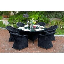 Masden 7 Piece Dining Set with Cushions