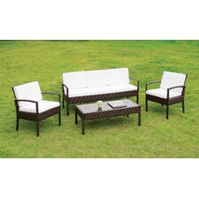 Cheryl 4 Piece Sofa Seating Group with Cushion