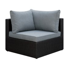 Basswood Outdoor Corner Chair with Cushion