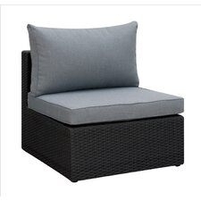 Basswood Outdoor Armless Chair with Cushion