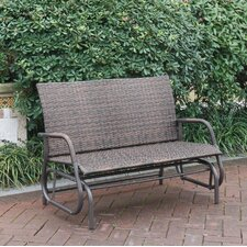 Amazing Wayzata Outdoor Wicker Glider Bench