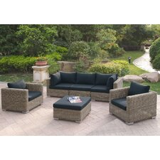 Harvey 6 Piece Patio Sofa Set with Cushions