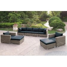 Modern Harvey 8 Piece Patio Sofa Set I with Cushions