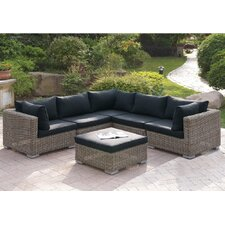 Cool Harvey 6 Piece Patio Sectional Set II with Cushions