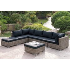 Reviews Harvey 7 Piece Patio Sectional Set with Cushions