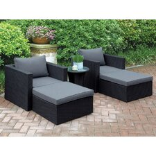 Best #1 Welter 5 Piece Patio Lounge Seating Group with Cushions