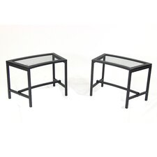 Mesh Metal Picnic Bench (Set of 2)