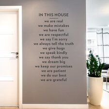 In This House Wall Decal