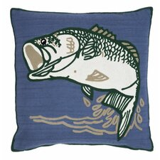 Bass Indoor/Outdoor Throw Pillow