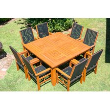 Kiama 9 Piece Dining Set with Cooler