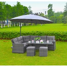 Lima Outdoor Wicker Rattan 5 Piece Deep Seating Group