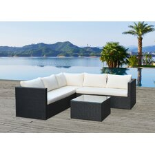 Lugo Outdoor Wicker Rattan 3 Piece Deep Seating Group