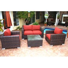 Madison 4 Piece Deep Seating Group with Cushion