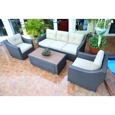 Bargain Tampa Luxury 4 Piece Deep Seating Group with Cushion