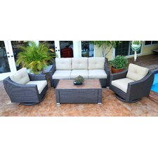 Wonderful Tampa 4 Piece Deep Seating Group with Cushion