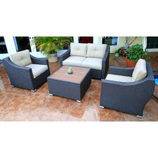 #1 Tampa 4 Piece Deep Seating Group with Cushion