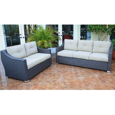 Tampa 2 Piece Patio Sofa Group with Cushion