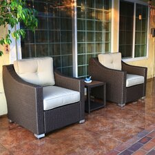 Tampa Conversation 3 Piece Deep Seating Group with Cushion