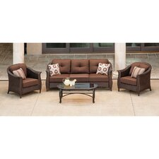 Coral Bay 4 Piece Deep Seating Group with Cushion