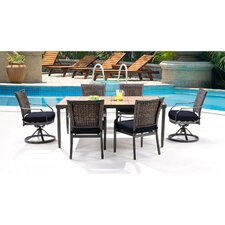 Dover 7 Piece Dining Set with Cushion
