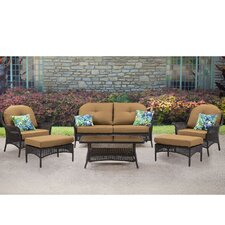 Saros 6 Piece Deep Seating Group with Cushion