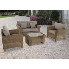 Avalon 4 Piece Deep Seating Group with Cushions