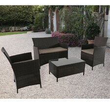 Exton 4 Piece Deep Seating Group with Cushion