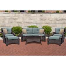 Corolla 6 Piece Lounge Seating Group with Cushion