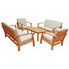 LuuNguyen 5 Piece Deep Seating Group with Cushion