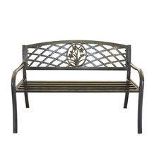 Flower Bouquet Cast Iron and Steel Park Bench