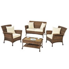 4 Piece Lounge Seating Group with Cushion