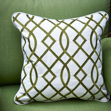 Trellis Embroidery Outdoor Sunbrella Throw Pillow (Set of 2)