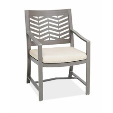 Chevron Dining Arm Chair with Cushion