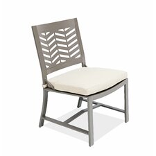 Chevron Dining Side Chair with Cushion