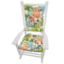 Coastal Outdoor Rocking Chair Cushion