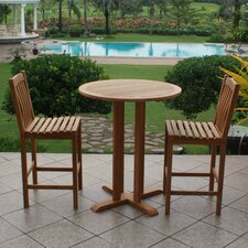 Seymour Teak 3 Piece Bar Set