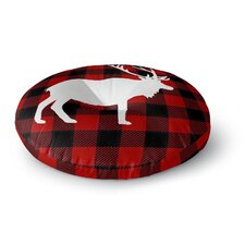 Deer Plaid Floor Pillow