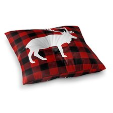 Coupon Deer Plaid Floor Pillow