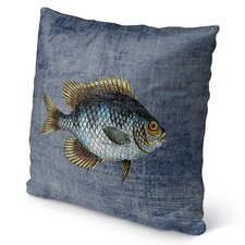 Fish Burlap Indoor/Outdoor Throw Pillow