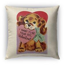 Bargain I Want to Be Your Pet Burlap Indoor/Outdoor Throw Pillow