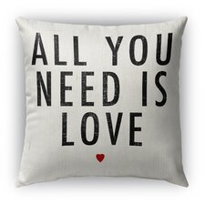 Good stores for All You Need Is Love Burlap Indoor/Outdoor Throw Pillow