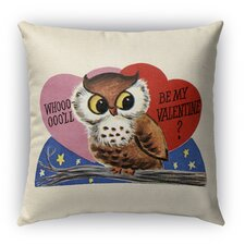 2017 Sale Be My Valentine Burlap Indoor/Outdoor Throw Pillow
