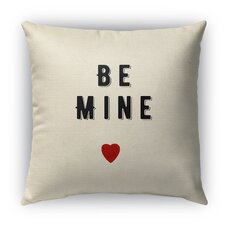 Be Mine Burlap Indoor/Outdoor Throw Pillow