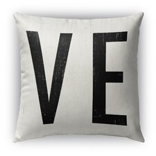 Ve Burlap Indoor/Outdoor Throw Pillow