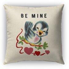 Be Mine Burlap Indoor/Outdoor Throw Pillow
