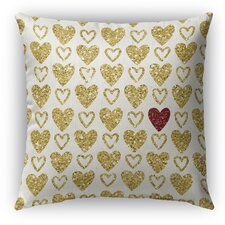 Heart Burlap Indoor/Outdoor Throw Pillow