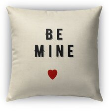 2017 Online Be Mine Burlap Indoor/Outdoor Throw Pillow