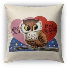 Be My Valentine Burlap Indoor/Outdoor Throw Pillow